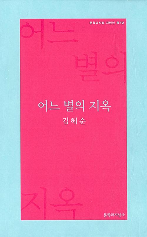 어느 별의 지옥 - 김혜순 시집 (코너)