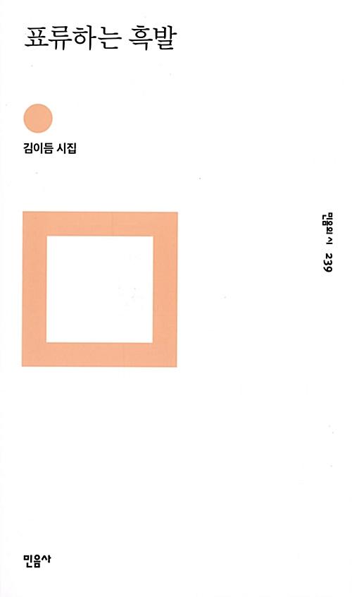 표류하는 흑발 - 김이듬 시집 (코너)